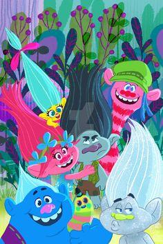 Wallpaper lindo dos Trolls!