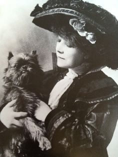 SARAH BERNHARDT AND HER GRIFFON - HAMLET.    We found this AMAZING post on one of our newest follower's blogs.