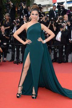 Cannes Film Festival 2017 | Deepika Padukone wore a green Brandon Maxwell gown.