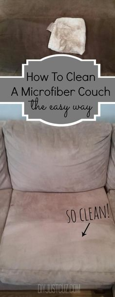 Clean (water stains) off your microfiber couch! The best thing about a microfiber couch is how easily they can be cleaned. Read tips on easily cleaning water stains on a microfiber couch! Household Cleaning Tips, House Cleaning Tips, Deep Cleaning, Spring Cleaning, Cleaning Hacks, Cleaning Supplies, Diy Hacks, Household Products, Cleaning Checklist