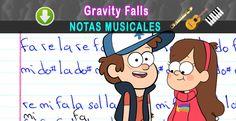 Notas Musicales: Gravity Falls / Intro / Notas Musicales + Video Tutorial