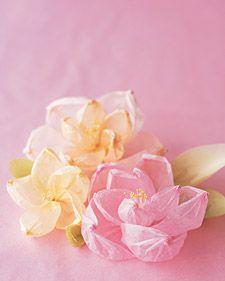 tissue paper flowers  Martha Stewart