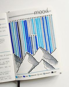 50 Bullet Journal Mood Tracker Ideas Volume I - The Economical C .- 50 Bullet Journal Mood Tracker Ideen Band I – Der sparsame Kiwi – … 50 Bullet Journal Mood Tracker Ideas Volume I – The Frugal Kiwi – the - Bullet Journal Mood Tracker Ideas, Bullet Journal Ideas Pages, Bullet Journal Inspiration, Journal Pages, Bullet Journal Grade Tracker, Journal Ideas Tumblr, Bullet Journal Decoration, Bullet Journal Doodles, Bullet Journal 2019