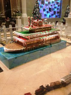 Gingerbread boat at a hotel in NOLA. Can you imagine the time it took to make this??  12/12