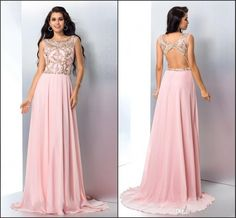 Blush Pink Prom Dresses Evening Gowns Formal Dress  From Molly_bridal, $108.85| Dhgate.Com