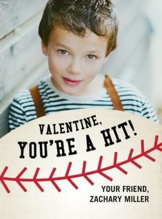 Hit it out of the partk with these 'You're a Hit' Valentine's Day Cards for Kids. #baseball #ValentinesDay