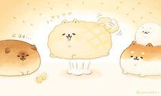 bread bun drawing Kawaii Chibi, Cute Chibi, Kawaii Art, Cute Animal Drawings Kawaii, Cute Drawings, Chibi Food, Super Cute Animals, Animal Sketches, Food Drawing