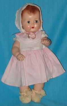 Vintage BETSY WETSY / TINY TEARS Doll  This was my third favorite doll…not to be confused with Tiny Tear doll that cred tears when fed …this one peed her diaper…We were so innocent back in the day.
