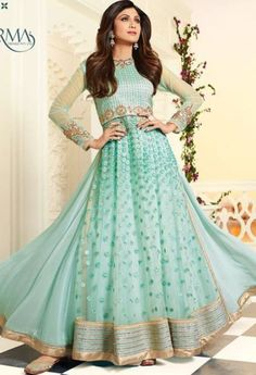 Product Code 5401 Weight 3 KGS Delivery Days 15 Days Fabric Net Bottom Georgette Occasion Party Wear, Traditional Work Embroidery, Stone Work Salwar Type Semi Stitched / Unstitched Shipping Worldwide