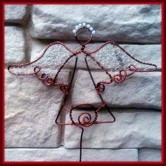 Anděl zdrátovaný zápich,  christmas angel from wire