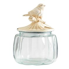 I like this jar, but the bird is not true white. I'm still looking for the perfect jars.