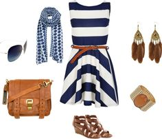 Blue and Brown, created by foofykitten on Polyvore