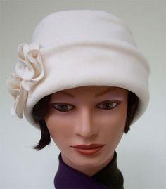 Fleece Hat - Winter white!