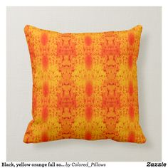 Shop Black, yellow orange fall solid back throw pillow created by Colored_Pillows. Orange Pillows, Custom Pillows, Keep It Cleaner, Your Design, Fall Decor, Throw Pillows, Make It Yourself, Cool Stuff, Knitting