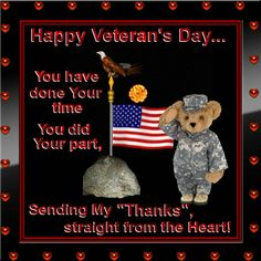 Show your appreciation to any veteran from your heart. Free online Straight From The Heart ecards on Veterans Day Happy Veterans Day Quotes, Free Veterans Day, Veterans Memorial Day, Veterans Day Images, Veterans Day 2019, Veterans Day Celebration, Veterans Day Thank You, 4th Of July Celebration, Holiday Cartoon