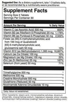 Undermethylation vitamins and minerals. Cofactors for undermethylators (active vitamins, minerals & amminos supplement). Helps MTHFR & and slow methylation.