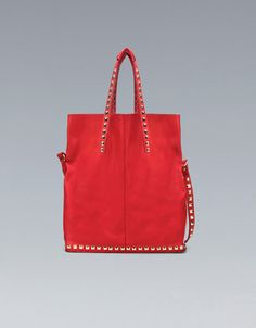 $159 SOFT SHOPPER WITH TACKS - Handbags - Woman - ZARA United States