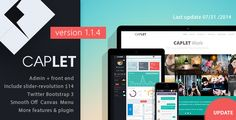Caplet Admin Responsive HTML Theme    http://themeforest.net/item/caplet-admin-responsive-html-theme-/6537086?ref=damiamio         	   What's Update in version 1.1.3?    - 60 pages+  - fix left menu open ( See )  - fix hide user panel ( See )  - add top menu ( See )  - add footer menu ( See )  – update other pages  – fix many bug  – delete data-color and change to class bg-color  - and more.  Some Features  Menu Preview 	     	 Caplet Admin is modern flat admin template , based on Bootstrap…