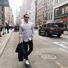 Theory shirt | Joe's jeans | Calvin Klein shoes | c/o Lord & Taylor | iamgalla.com