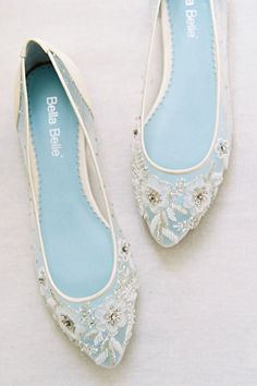 Hottest Wedding Shoes Trends 2018 For Brides ❤️ flats illusion floral embroidery silver wedding shoes trends bella belle adora ❤️ See more: http://www.weddingforward.com/wedding-shoes-trends/ #weddingforward #wedding #bride #weddingshoes