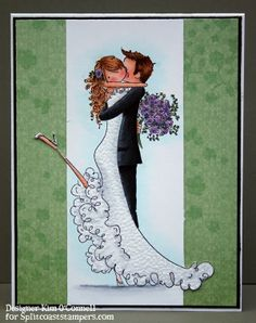 Paper Perfect Designs by Kim O'Connell: Stamping Bella Uptown Couple Brett and Brenda Get Married