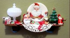 Dollhouse miniature Christmas Shelf.  Love this for a Christmas house...couldn't find on site.