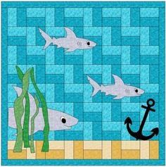 Sharks Quilt Pattern CLS-119