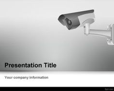 CCTV Camera PowerPoint Template is a gray PowerPoint template for security presentations that you can download if you want to use a CCTV camera image in the PowerPoint slide