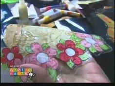 Vida com Arte   Adesivagem em Porcelana por Rosana Cremasco - 16 de Maio de 2014 - YouTube