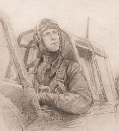 Яр-Кравченко Анатолий. Летчик-истребитель Абдуллаев.