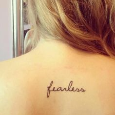 fearless ,back tattoo for fashion girls #tattoo #back #girls