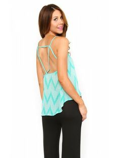 #Chevron Heights Woven Top