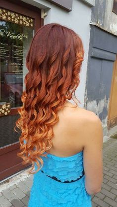 Red copper blond ombre/balayage.. In love with those colors!