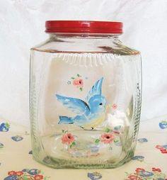 Love Vintage, Vintage Jars, Vintage Dishes, Vintage Decor, Retro Vintage, Vintage Items, Vintage Nursery, Vintage Stuff, Glass Cookie Jars