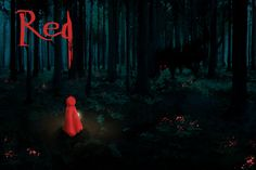 This is an illustration for an assignment where we had to build a fake game design document. Red would have been an atmospheric puzzle platfor. Game Design Document, Wolf Moon, Red Hood, Red Riding Hood, Big Eyes, Little Red, Beautiful Creatures, Fairy Tales, Illustration Art