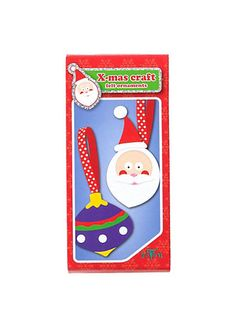 Kreativset Weihnachtsbaumschmuck aus Filz Santa & Kugel