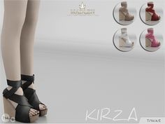 Sims 4 CC's - The Best: Madlen Kirza Shoes by MJ95
