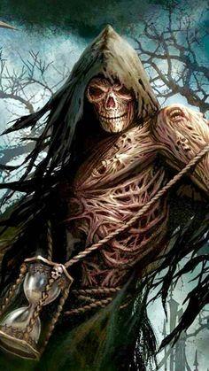 Fear the Reaper Death Reaper, Grim Reaper Art, Grim Reaper Tattoo, Gothic Wallpaper, Skull Wallpaper, Iphone Wallpaper, Dark Artwork, Skull Artwork, Reaper Drawing