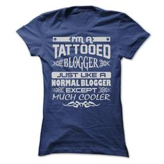 TATTOOED BLOGGER - AMAZING T SHIRTS - #tumblr tee #tshirt flowers. OBTAIN => https://www.sunfrog.com/LifeStyle/TATTOOED-BLOGGER--AMAZING-T-SHIRTS-Ladies.html?id=60505