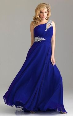 Formal Long One Shoulder Chiffon Evening Dress - uniqistic.com/