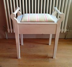 No job too small upcycled this antique piano stool for a customer @#Henrypaintsfurniture