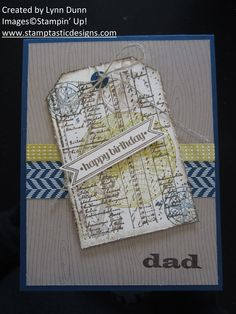 Great masculine card using the Open Sea stamp set!
