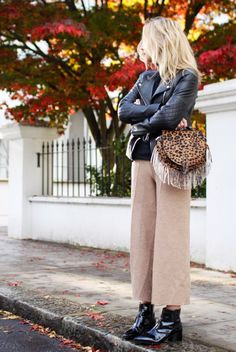 Day 21: Experiment with a new pant-and-boot combo, like cropped trousers and ankle boots. via @WhoWhatWear