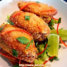 Crispy Baked Tom Yum Chicken Wings