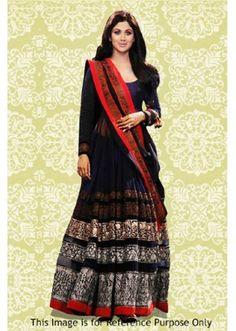 Bollywood Replica - Shilpa Shetty In Multicolour Anarkali Suit - 70878