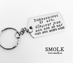 Welcome to SMOLK -Handstamped jewelry with a twist Dog Tags, Dog Tag Necklace, Fashion Accessories, Personalized Items, Quotes, Jewelry, Funny, Jewellery Making, Tired Funny