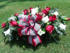 Alabama Crimson Tide Tombstone Cemetery Saddle by CrazyboutDeco, $45.99