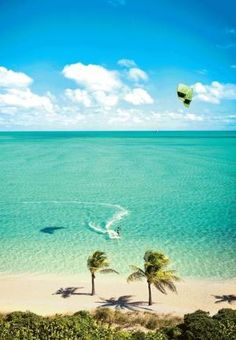 Long Bay Beach in Turks & Caicos is a mecca for kite boarding in the Caribbean.