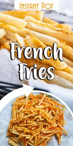 Try these quick and easy french fries recipe you can do with your Instant Pot: it takes only 25 minutes to taste these crispy but tender fries with your family and friends on every occasion!    These pressure cooker french fries are perfect for parties, weeknight dinners, appetizers and every time you feel like having a flavorful snack. They are also much healthier than the fried ones.