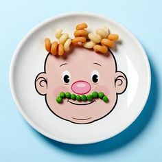 Food Face Plate in Mealtime